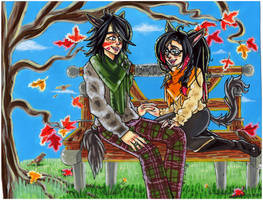 Local Commission Autumn Romance by HoneyPlease