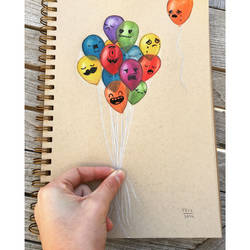 Balloons doodle by VinceOkerman