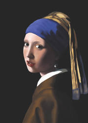 Girl with a Pearl Earring Digital Reproduction by VoAndy