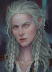 Pale elf by AnnaHelme