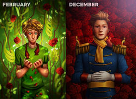 February to December: The Little Prince by wendybirdx