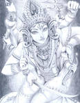 Durga by Ferenand