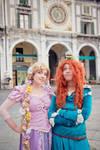Rapunzel and Merida by AxelTakahashiVIII