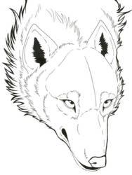 Wolf Lineart by FallenAngelWolf13