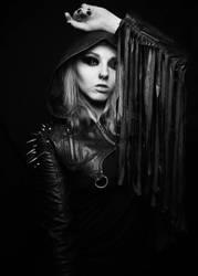 Punk Rave - Black  White  by RowennaCox