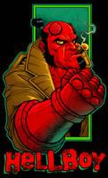 Hellboy by dwaynebiddixart