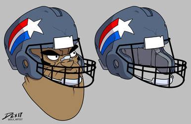 Helmet by dwaynebiddixart