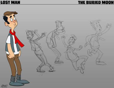 Lost Man Post by dwaynebiddixart