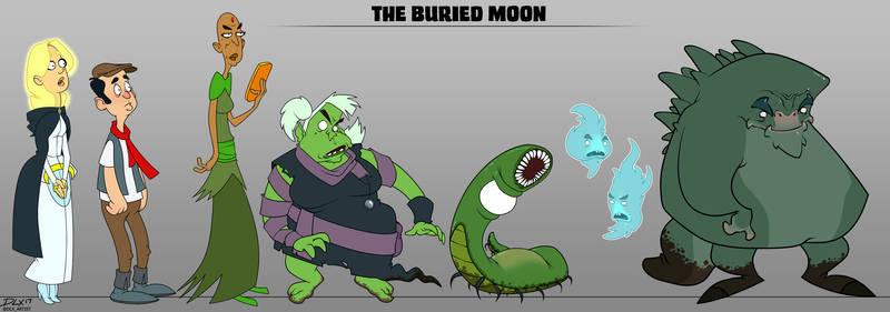 Buried Moon Lineup Post by dwaynebiddixart