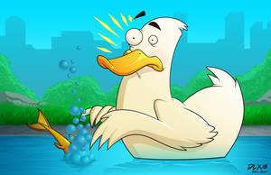 Oh Duck by dwaynebiddixart