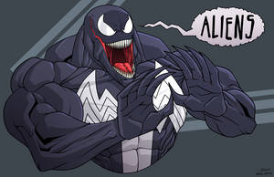 Venom Alien by dwaynebiddixart
