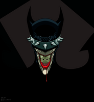 The Batman Who Laughs by dwaynebiddixart