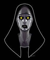 The Nun by dwaynebiddixart
