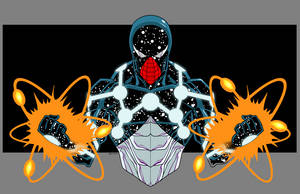 Cosmic Spidey by dwaynebiddixart