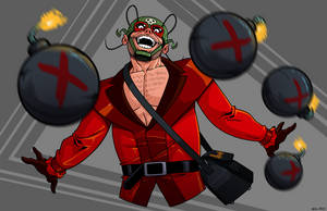 The Evil Midnight Bomber What Bombs at Midnight by dwaynebiddixart