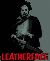 Leatherface by dwaynebiddixart