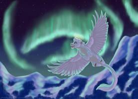 Aurora  borealis by PhoenixMystery