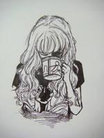 girl in a superman T-shirt by FFFei