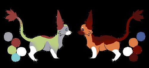 Dole x Ilania - pups (1/2 OPEN) by GonXKillua