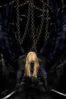 Dark angel in chains by LadyNightVamp