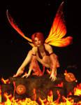 Fire Fairy by LadyNightVamp