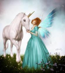 Fairy and Unicorn by LadyNightVamp