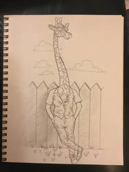 the tall guy by onlygoodart