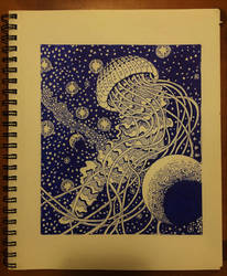 cosmic jellyfish by onlygoodart