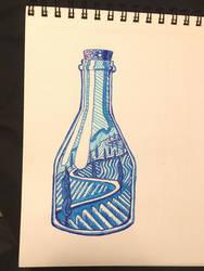 Countryside In A Bottle  by onlygoodart