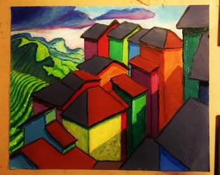 Hillside City by onlygoodart