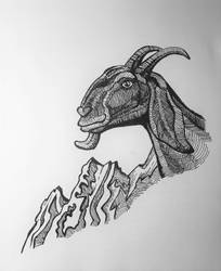 Goat by onlygoodart