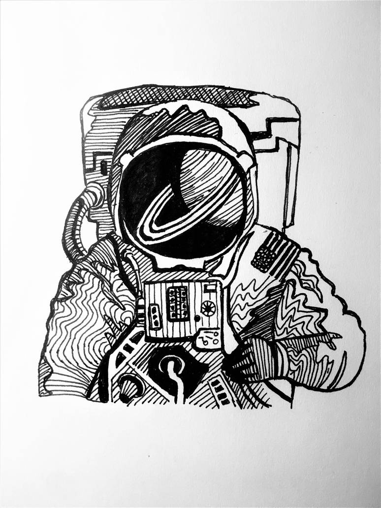 Astronaut by onlygoodart