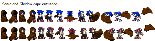 Sonic and Shadow cape entrence by MyPicts