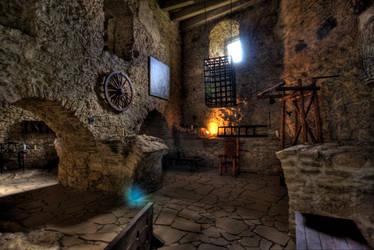 Spisky Castle - Slovakia - tortures room by Jaagaa