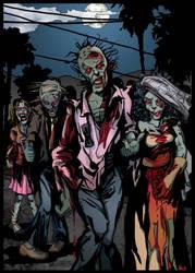 Zombie Wedding Couple by Dragonsmith-Studio