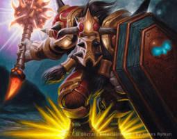 Warcraft TCG - Tauren Paladin by JamesRyman