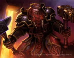 Warcraft TCG - Magni by JamesRyman