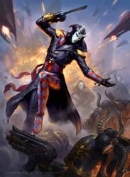 Warhammer 40k - Harelquin Solitare by JamesRyman