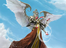 Wispweaver Angel for MtG Kaladesh by JamesRyman