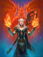 Hearthstone - Dragoncaller Alanna by JamesRyman