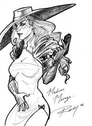 Madame Mirage Sketch by Drawingremy