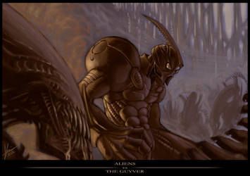 Aliens vs The Guyver by blackpoint