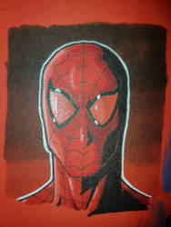 Spiderman on red paper  by gocudo49