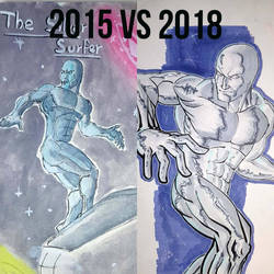 old vs new The silver surfer by gocudo49