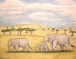 Hills of the Savanna by TheFriendlyElephant