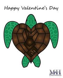 Sea Turtle Valentine by Icedragon529