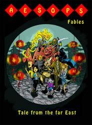 Aesop Fables comic book cover design by ThanhBui714