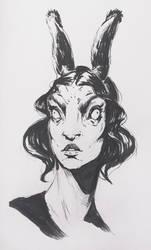 nktober 2017 - Day 5 - bunny ears by denikina-art
