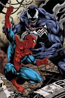 Spiderman vs Venom by johncastelhano