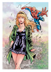 Spidey meets Gwen Stacy (color) by johncastelhano